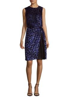 J. Mendel Silk-Blend Embroidered Dress