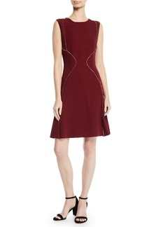 J. Mendel Sleeveless A-Line Silk Dress