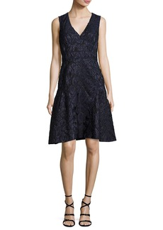 J. Mendel Sleeveless Fil Coupe Dress
