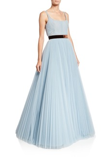 J. Mendel Sleeveless Tulle Ball Gown