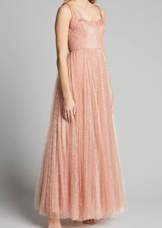 J. Mendel Tulle Pleated Gown