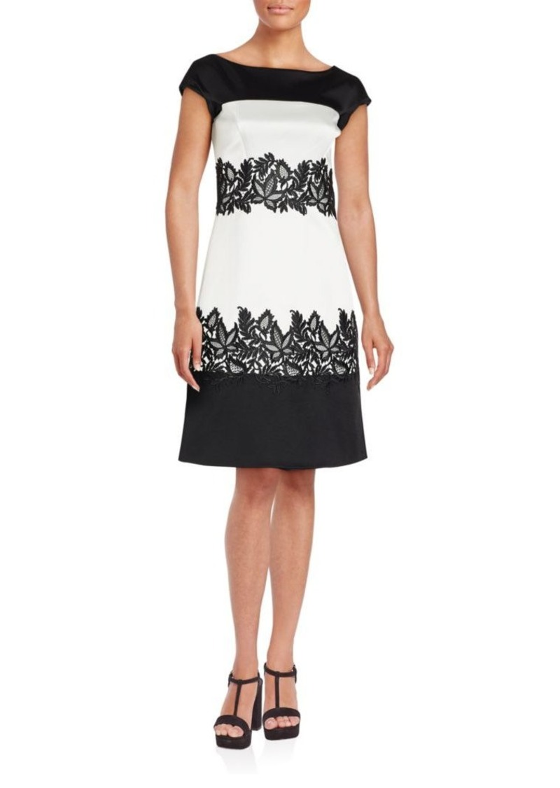 J. Mendel Two-Tonal Floral Embroidered Dress