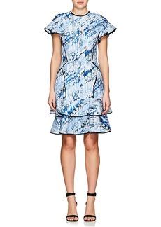 J. Mendel Women's Abstract-Print Silk-Blend Cloqué Minidress
