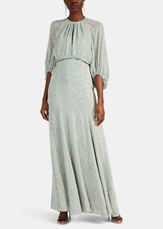 J. Mendel Women's Beaded Fil Coupé Gown