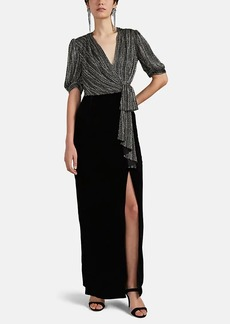 J. Mendel Women's Beaded Silk & Velvet Gown