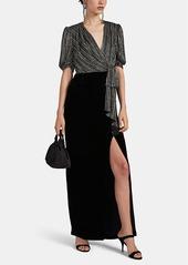 J. Mendel Women's Beaded Silk & Velvet Gown