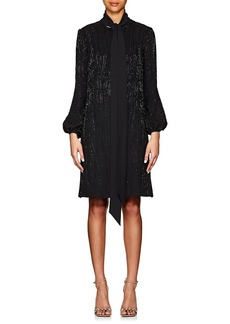 J. Mendel Women's Beaded Silk Satin Shift Dress