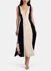 J. Mendel Women's Colorblocked Silk Plissé Cocktail Gown