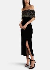 J. Mendel Women's Embellished Velvet Off-The-Shoulder Gown