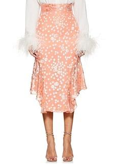 J. Mendel Women's Floral Fil Coupé Handkerchief Skirt