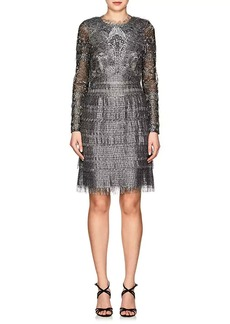 J. Mendel Women's Fringed Lace Cocktail Dress