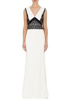J. Mendel Women's Lace-Appliqué Crepe Gown