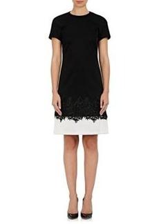 J. Mendel Women's Lace-Appliquéd Tech-Jersey Dress