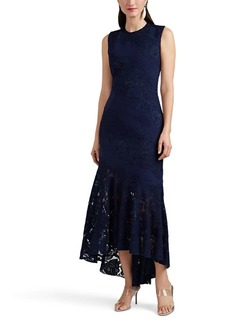 J. Mendel Women's Lace-Inset Silk Crepe Cocktail Dress