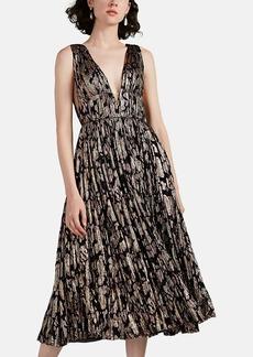 J. Mendel Women's Metallic Abstract Fil Coupé Cocktail Dress