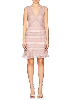 J. Mendel Women's Metallic Lace Cocktail Dress