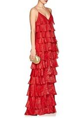 J. Mendel Women's Metallic Striped Silk-Blend Gown