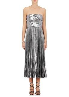 J. Mendel Women's Pleated Satin Strapless Cocktail Dress
