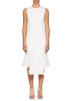 J. Mendel Women's Ruffled-Hem Silk Crepe Midi-Dress