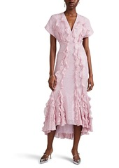 J. Mendel Women's Ruffled Silk Fil Coupé Dress