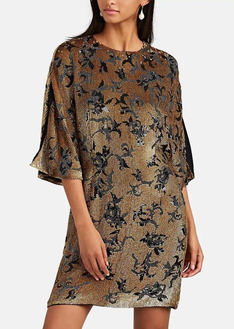 J. Mendel Women's Sequined Silk Cocktail Shift Dress