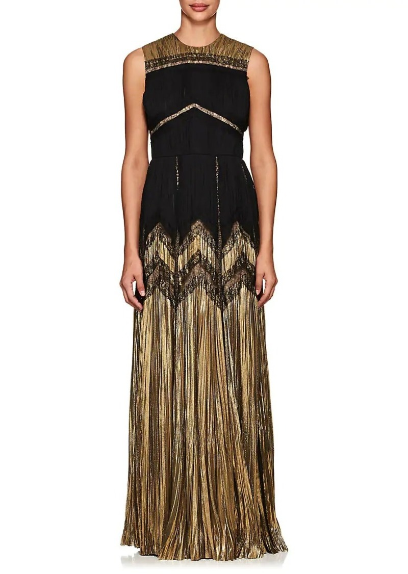J. Mendel Women's Silk-Blend Lamé & Chiffon Sleeveless Gown