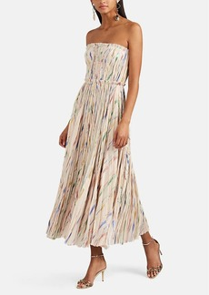 J. Mendel Women's Silk-Blend Plissé Cocktail Dress