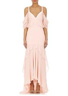 J. Mendel Women's Silk Chiffon High-Low Gown