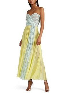 J. Mendel Women's Silk Plissé Chiffon Cocktail Dress