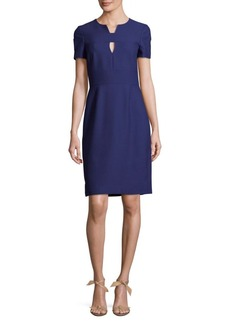 J. Mendel Zippered Split Neck Dress
