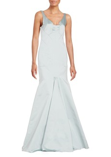 J. Mendel Modified V-Neck Mermaid Gown
