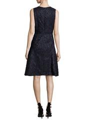 J. Mendel Sleeveless Fil Coupe Dress  Blue