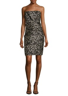 J. Mendel Strapless Drape-Waist Sheath Dress