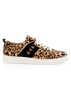 Jack Rogers Ainsley Leopard-Print Calf Hair Sneakers