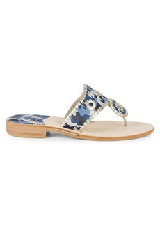 Jack Rogers Camo Leather Sandals