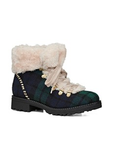Jack Rogers Charlie Faux Shearling-Lined Lace-Up Booties