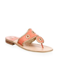 Hollis Leather Thong Sandals