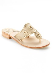 Jack Rogers + Nantucket Gold Leather Sandals