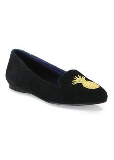 Jack Rogers Anice Pineapple Suede Flats