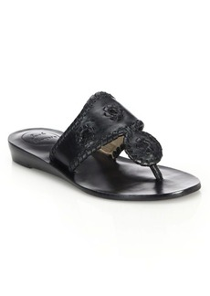Jack Rogers Capri Leather Mid-Wedge Sandals