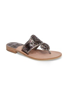 Jack Rogers Cleo Sparkle Whipstitched Sandal (Women)