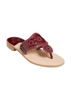 Jack Rogers Croc Embossed Sandal (Women)