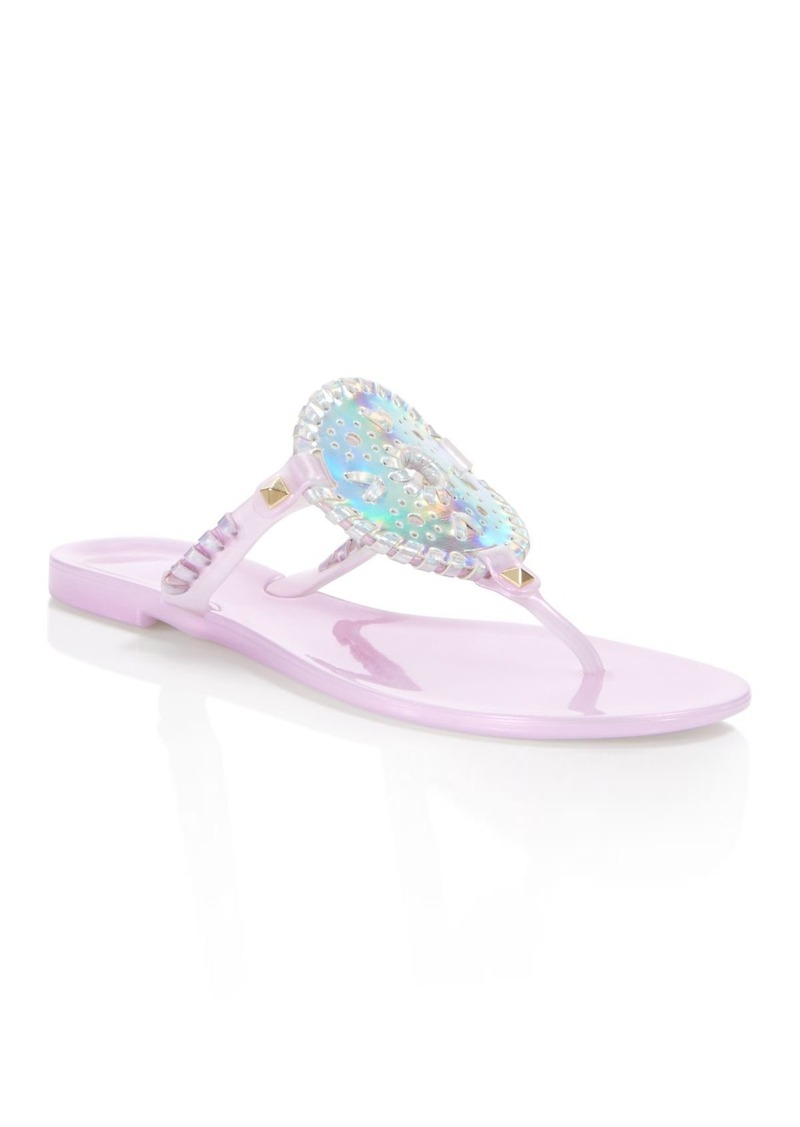 96c2bac5daf On Sale today! Jack Rogers Jack Rogers Georgica Jelly Hologram Thong ...