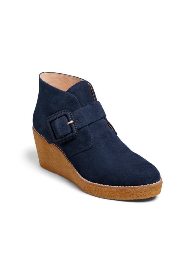 Jack Rogers Izzie Suede Wedge Booties