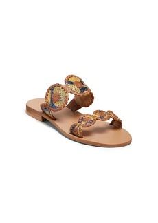 Jack Rogers Lauren Snake Print Sandals
