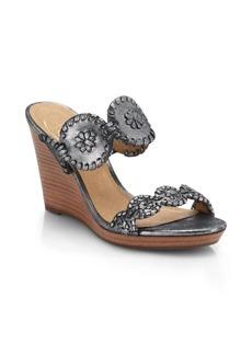 Jack Rogers Luccia Stardust Platform Wedge Sandals