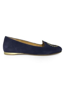 Jack Rogers Rebecca Suede Smoking Slippers