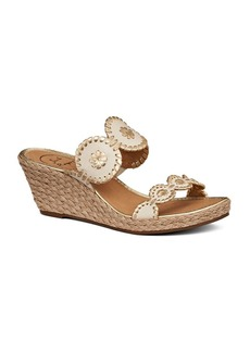 Jack Rogers Shelby Leather Wedge Sandals