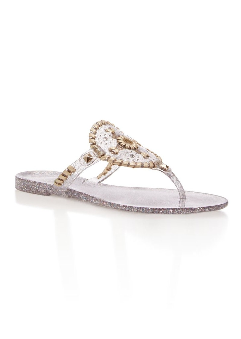 2b32c0cb9465 SALE! Jack Rogers Jack Rogers Sparkle Georgica Jelly Thong Sandals