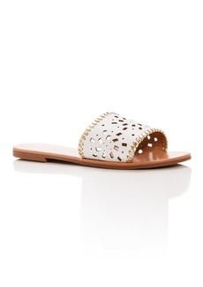Jack Rogers Women's Delilah Perforated Leather Slide Sandals